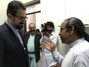 «سید مجتبی حسینی» با «اسحاق بلوچ نسب» دیدار کرد